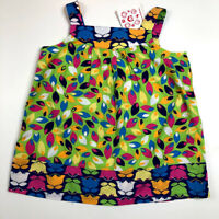 New Hanna Andersson Girls 8 130 Floral Baby Doll Swing Tank Top Shirt