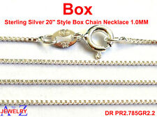 Box Style 925 Sterling Silver Chain Fancy Necklace Jewelry For Pendant