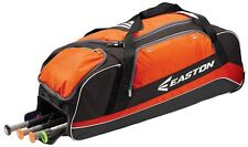 Easton E500C Stealth Orange Wheeled Catcher's Equipment Bag Baseball/Softball