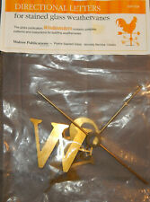 Vintage Directional Letters Stained Glass Weathervanes Wp-004 Nos Brass N E S W