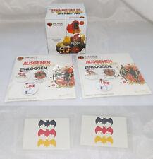 Bacardi Paket für Fans und Sammler 1 Tischwürfel 2 3er Pin-Set 5 Abzieh-Tattoos
