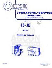 ONAN JB - JC Industrial Operators Parts Service Manual