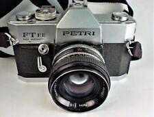 "PETRI FT EE  CAMERA  # 241922  AUTOMATIC ""REDUCED"" CC PETRI LENS 55mm 1:1.8 EXC."