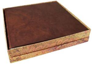 Chianti Leather Photo Album, Extra Large Chocolate - Handmade in Italy