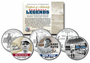 Baseball Legend BABE RUTH State Quarters US 3-Coin Set - Mail-in-Offer **RARE**