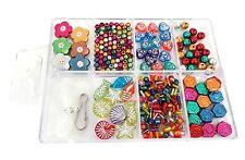Bead Kits Jewel Making Colorful Metallic Flower Fishes Variety Beads bead box