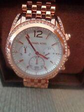 Michael Kors Pressley Rose Goldtone Chronograph Glitz Women's Watch - MK5836