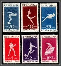 1960 SPORT OLYMPIC ROME SOCCER BOXING SWIMMING IN ROMANIA SCOTT 1331-1336