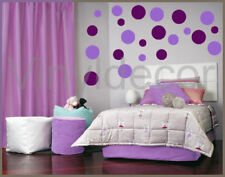 264 POLKA DOTS Wall decals Stickers lavender & violet