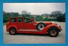 Car Postcard ~ 1929 Isotta Fraschini 8A: Milan Fire Brigade - Niccolini of Italy
