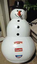 Snowman Inflatable 3 ft tall Pepperidge Farm NEW Red Scarf Black Top Hat