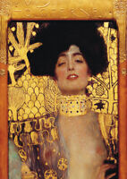 Judith - Klimt A4 size 21x29.7cm QUALITY Decor Canvas Art Print Poster Unframed