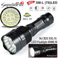 5Mode SupwildFire 45000LM 18x CREE XML T6 LED Flashlight Torch Light Hunting