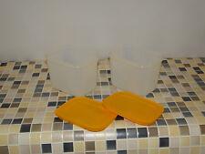 Tupperware  G 35 Eis-Kristall 1,1 l hoch (2) orange-milchig NEU