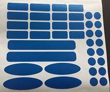 Marco de bicicleta protección carbon azul MTB cadenas marco protección Cube Ghost 40 pzas.