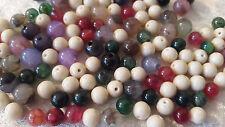 20 Agates perles semi-précieuses