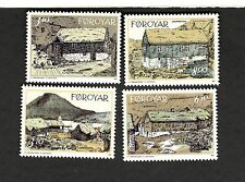 1992 Faroe Islands Denmark SC #243-46 OLD HOUSES  MNH stamps