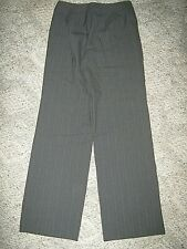 TALBOTS Gray w/ Pink Purple Pinstripes 2 Pocket Flare Leg Stretch Dress Pants 6