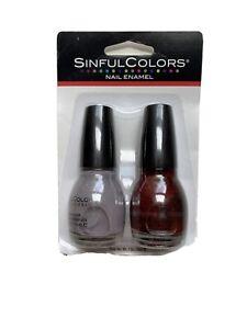 Sinful Colors Nail Polish Set: #2223 Therapewter #2332 Bite Me 2pack