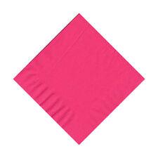 50 Plain Solid Colors Beverage Cocktail Napkins Paper - Hot Pink