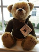 """Harrods 21st Century Bear 13"""" in Sitting Position Euc with Tags"""