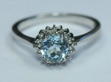 Topaz Birthday Natural Round Fine Gemstone Rings