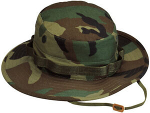 Military Issued Woodland Boonie Hat-NEW