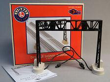 LIONEL DOUBLE SIGNAL BRIDGE O GAUGE train accessory plug n play 6-83174 NEW