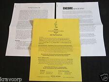 ENCORE/ANTI-POP CONSORTIUM—2000 PRESS KIT