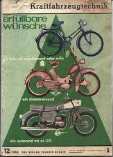 Zeitschrift: Kraftfahrzeugtechnik, Dez.1963, Heft 12