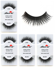 6 Pairs AmorUs 100% Human Hair False Eyelashes # 47 compare Red Cherry