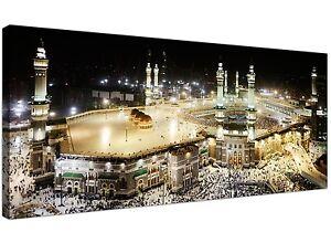 Large Islamic Canvas Art Prints - Muslim Hajj Kabba Pilgrimage - Mecca