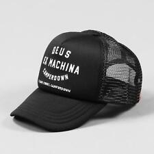 Deus Ex Machina Men's Camperdown Address Mesh Trucker Hat Cap Black And White