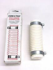 "Nos! Form-A-Trap 1-1/2"" x 6"" Poly Drain Connector, for Drains, 156D"