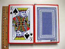 """12 DECKS 3 3/8"""" x 5 1/4"""" JUMBO LARGE PLAYING CARDS LOW VISION GAME BRIDGE POKER"""