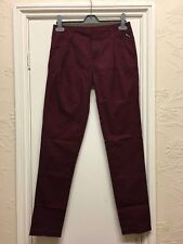 Bench straighten up burgundy trousers size 26/32 BNWT