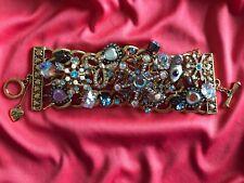 Betsey Johnson Snow Angel Winter Snowflake Fairy Wand Glitter Reindeer Bracelet