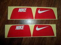 Nike Visionshield Visor for Football Helmet Licensed RED Decals (2) Sets