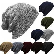 Men Women Knitted Winter Oversized Slouch Baggy Beanie Hat Sull Ski Cap Unisex