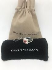 David Yurman Petite Albion Ring With Morganite and Diamonds Size 9