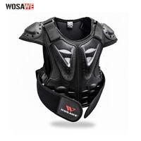Motorradjacke Weste-Schutz Brustpanzer mit Protektoren für 4-15 Jahre alt Kinder