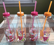 4 Pcs. Drinking Bottle With Straw