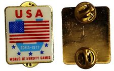 PINS  USA Sofia 1977 World University Games Giochi Universitari con smalti #C138