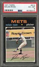 1971 Topps #513 Nolan Ryan PSA EX-MT 6  New York Mets