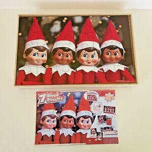 Cardinal Industries Elf on the Shelf Set of 7 Wooden Puzzles, Wooden Storage Box