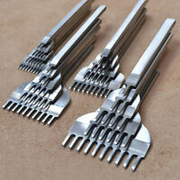 4 Prong Leder Werkzeug Flach Meißel Locher Stanzen Stitching Handwerk Punch Tool