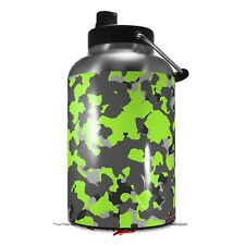 Skin Wrap for Rtic 1 Gallon Jug Old School Camouflage Camo Lime Green