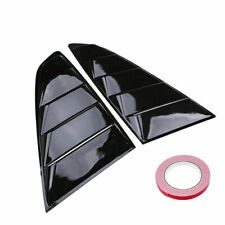 for 15-18 Ford Mustang Carbon Fiber Look Rear Window Louver Scoop Cover Vent Kit