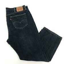 Levis 559 Mens Size 42 x 28.5 Dark Wash Relaxed Straight Blue Jeans SHORT INSEAM