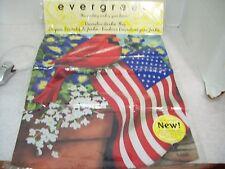 "New listing Evergreen 13"" x 18"" Garden Flag Cardinal Old Glory Us Flag"